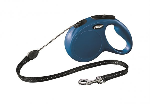 Trixie Flexi New Classic, snor, str. M: 5 m, blå