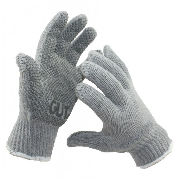 """GUT Strik-Handske """"GrauNoppe"""", str. 10"""
