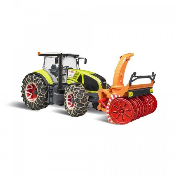 Bruder Claas Traktor Axion 950 med snekæder og snefræser