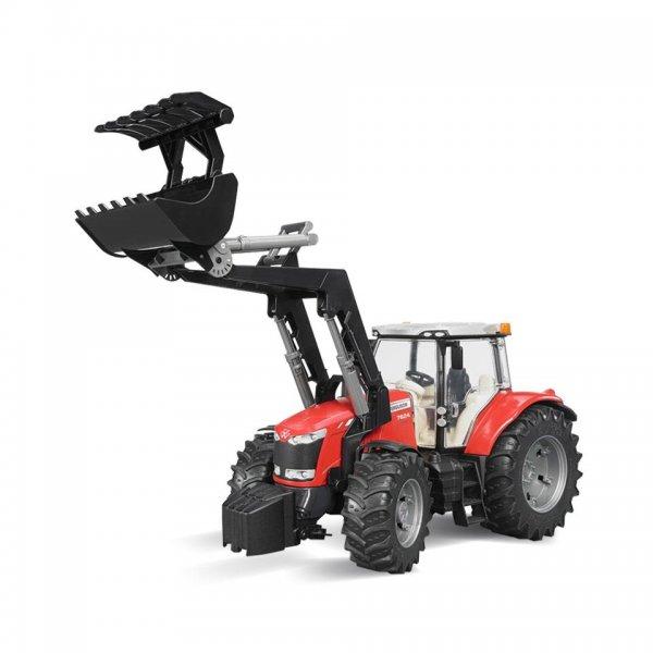 Bruder Massey Ferguson Traktor 7624 med frontæsser
