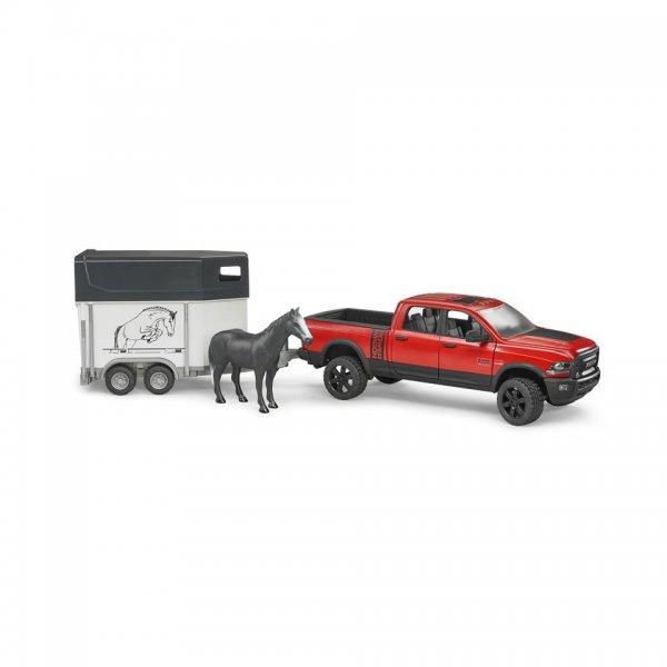 Bruder RAM Power Wagon med hestetrailer og hest