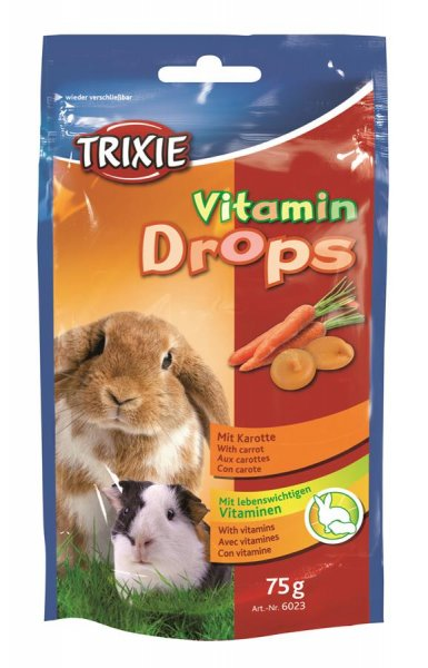 Trixie Vitamin-Drops, gulerødder, 75 g