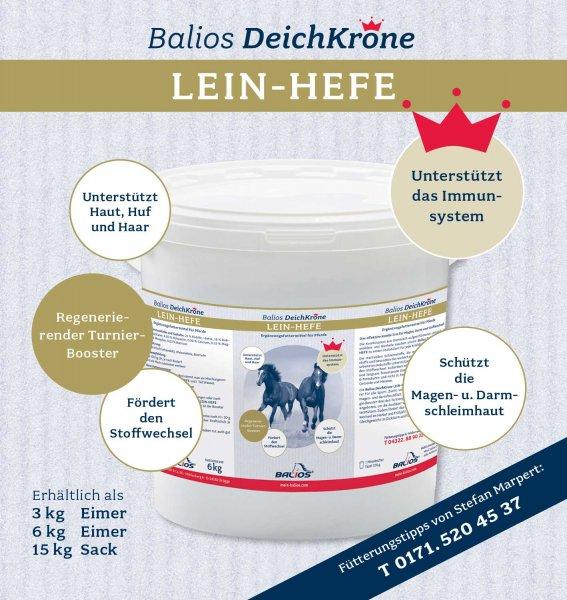 Balios Best Lein-Hefe til heste, 3 kg