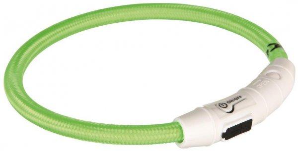 Trixie USB Flash Lyshålsband, L-XL, 65 cm, grøn