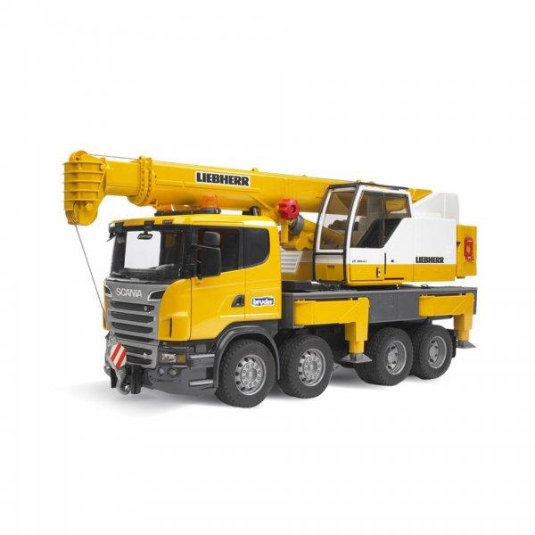 Bruder Kran-Lastbil Scania R-Serie Liebherr