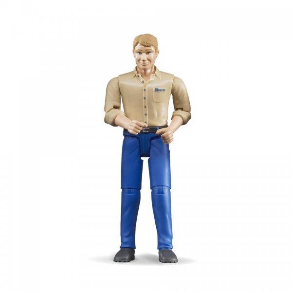 Bruder Mand med lyst hår og blå bukser