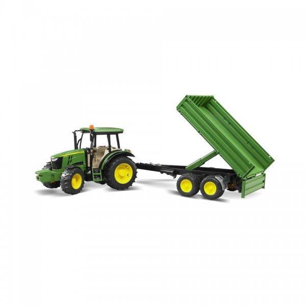 Bruder John Deere Traktor 5115M med trailer