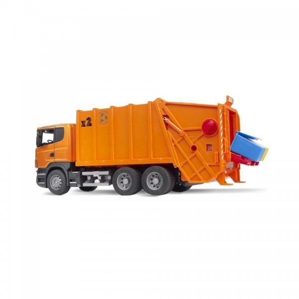Bruder Scania R-Serie Skraldebil, orange
