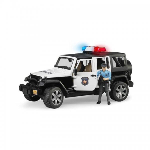 Bruder Jeep Wrangler Unlimited Rubicon Politivogn & politimand