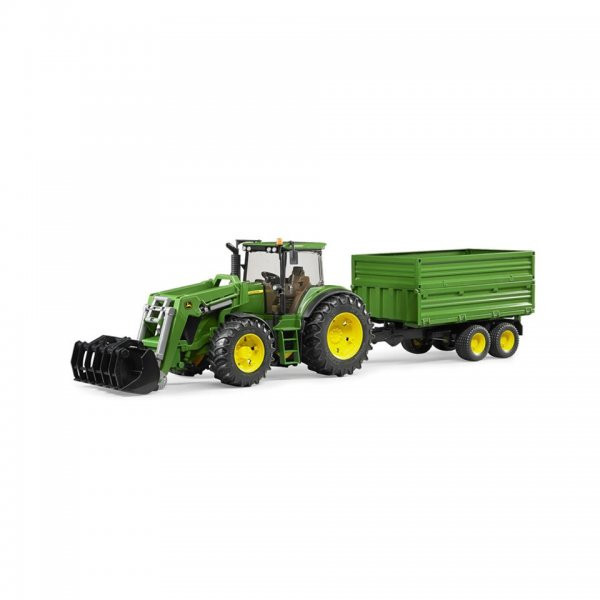 Bruder John Deere Traktor 7930 med frontlæsser og trailer