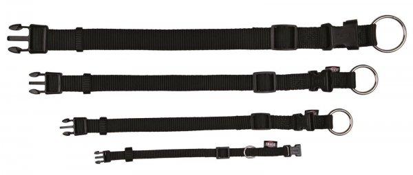 Trixie Premium halsbånd, str. S-M: 30-45 cm/15 mm, sort