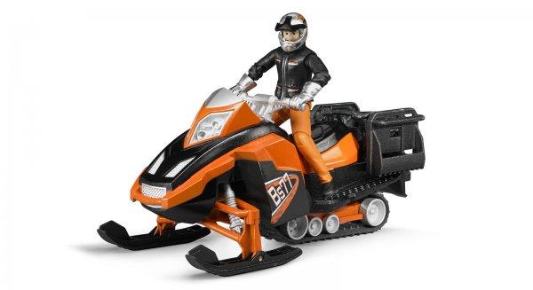 Bruder Snowmobil med chauffør og udstyr