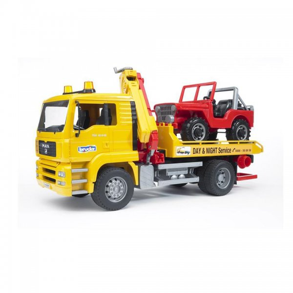 Bruder MAN TGA Trækvogn med Land Rover