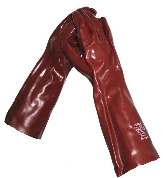 GUT Vinyl-beskyttelsehandske, rødbrun