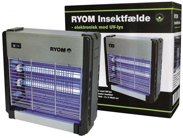 Elektrisk Insektfælde Ryom plast/aluminium, 2x6W, 75 m²