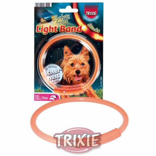Trixie Light bånd, str. M: 42 cm, orange