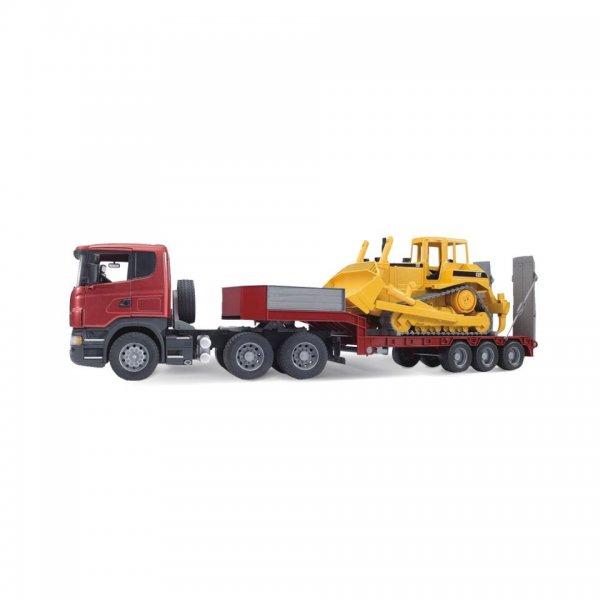 Bruder Scania R-Serie Lastbil med blokvogn og CAT-bulldozer