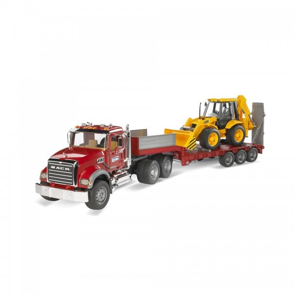 Bruder MACK Granite lastbil m/blovogn og JCB 4CX rendegraver
