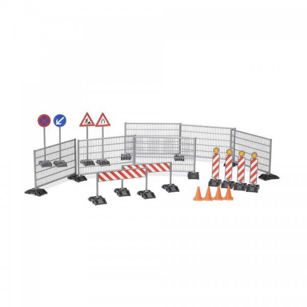 Bruder Afspæringsset med hegne, skilte og piloner til vejarbejde