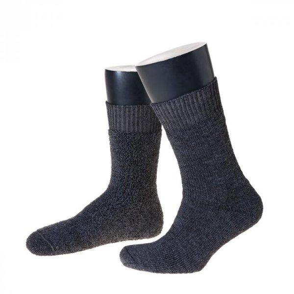 """Nordpol Sokke """"Immerwarm"""" halvlang, grå"""