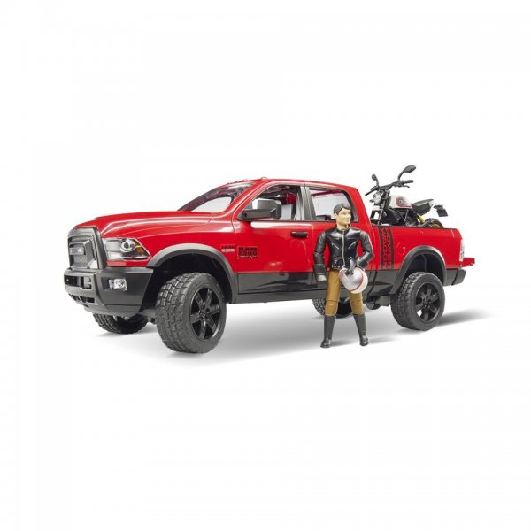 Bruder RAM 2500 Power Wagon m/Scrambler Ducati Desert Sled & mand