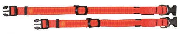 Trixie Flash halsbånd, str. S-M: 30-40 cm/25 mm, signal orange