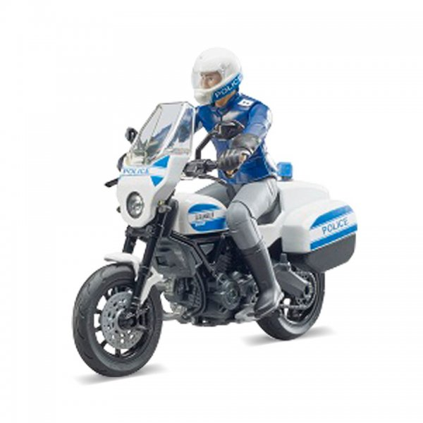 Bruder bworld Scrambler Ducati Politi-Motorcykel og Politimand