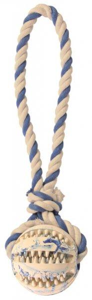 Trixie Denta Fun bold på reb, naturgummi, ø 7 cm/24 cm