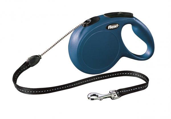 Trixie Flexi New Classic, snor, str. M: 8 m, blå