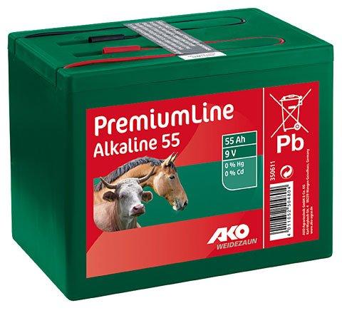 Ako Batteri Alkaline 9 V, 55 Ah