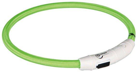 Trixie USB Flash Lyshålsband, M-L, 45 cm, grøn