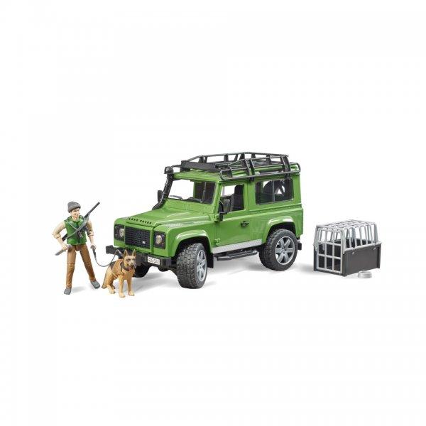 Bruder Land Rover Defender Station Wagon med skovfoged og hund