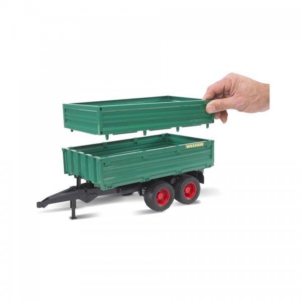 Bruder Tandemaksel trailer med aftagelig top