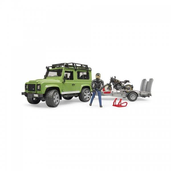 Bruder Land Rover Defender Station Wagon med trailer