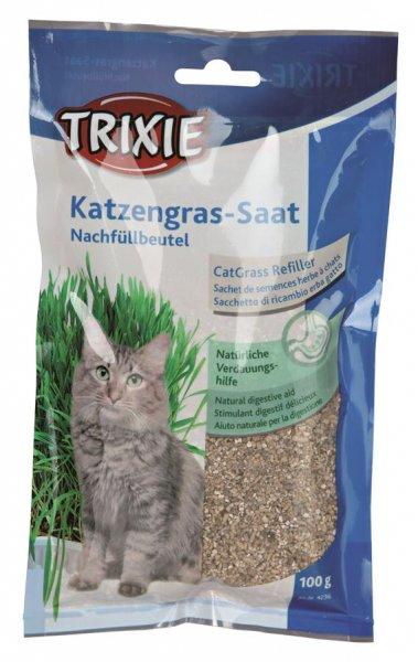 Trixie Kattegræs refill pose til artikel 89384235, pose/ca. 100 g