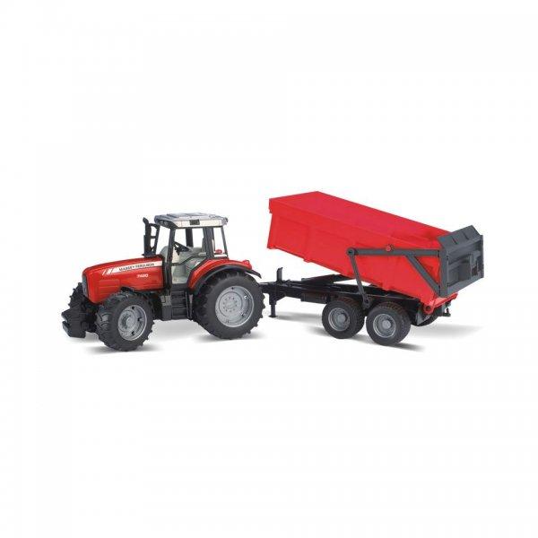 Bruder Massey Ferguson Traktor 7480 med tipvogn