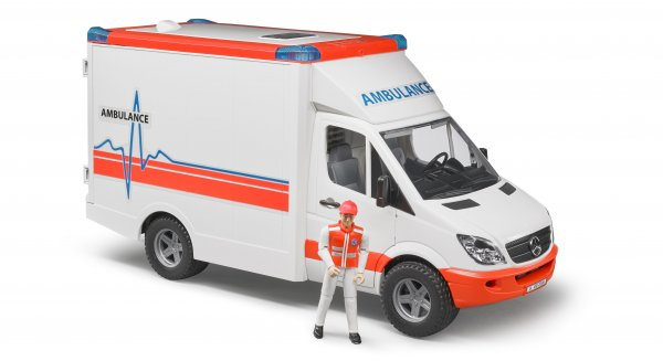 Bruder Mercedes Benz Ambulance Sprinter med chauffør