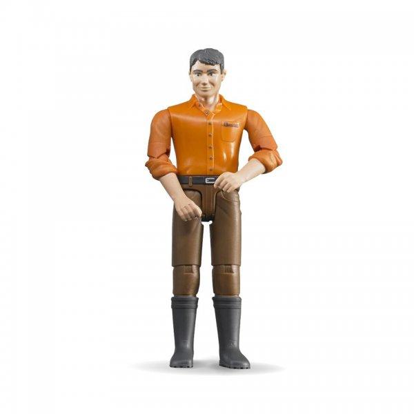 Bruder Mand med lyst hår og brune bukser