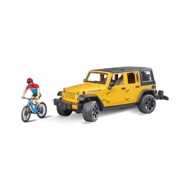 Bruder Jeep Wrangler Unlimited med Mountainbike og cyklist