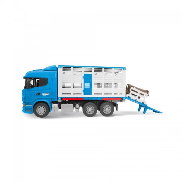 Bruder Scania R-Serie Dyretransport-Lastbil m/kvæg