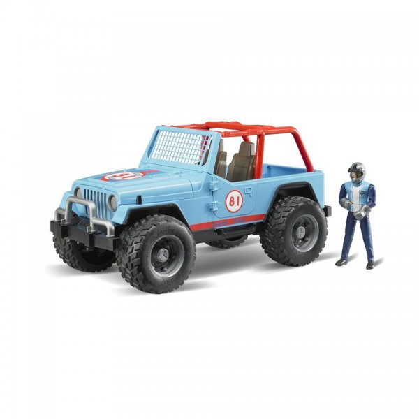 Bruder Jeep Cross Country Racer, blå, med racer