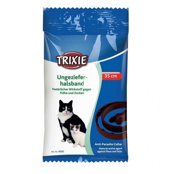 Trixie Naturligt skadedyrsbånd, kat, 42 cm, grøn