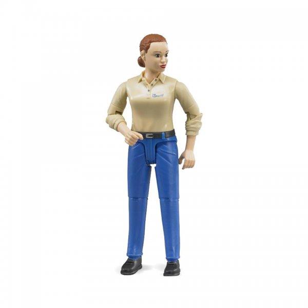 Bruder kvinde med lys hudtype og blå bukser