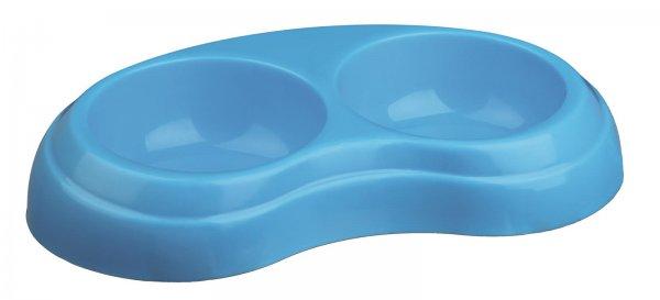Trixie Dobbel skål, plast, 2×0,2 l/ø 10 cm
