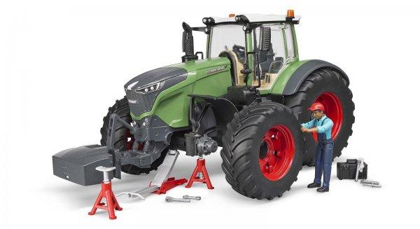 Bruder Fendt Traktor 1050 Vario med mekaniker og værkstedsudstyr