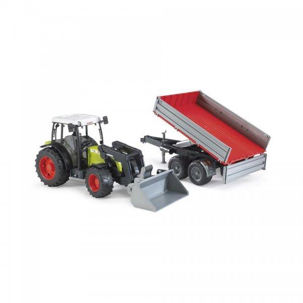 Claas Nectis Traktor 267 F med frontlæsser og tipvogn