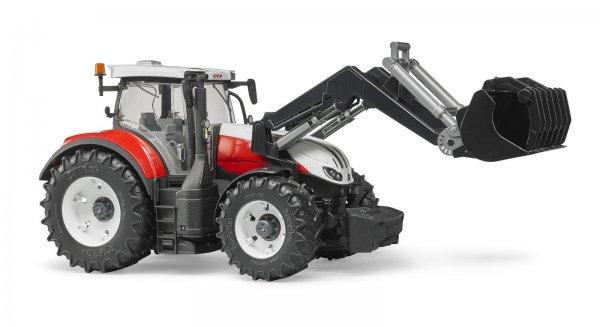 Bruder Steyr Traktor 6300 Terrus CVT med frontlæsser
