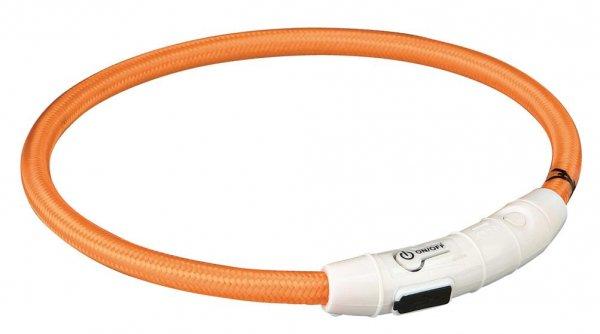 Trixie USB Flash Lyshålsband, M-L, 45 cm, orange