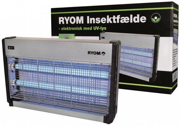 Elektrisk Insektfælde Ryom plast/aluminium, 2x15W, 150 m²