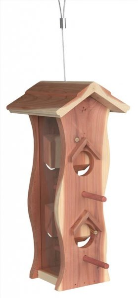 Trixie Natura foderautomat, cedertræ, 12×29×14 cm, natur